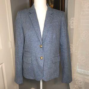 Blue J Crew School Boy Wool Blazer SZ 10